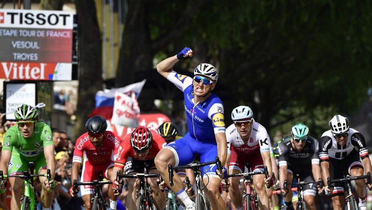 Marcel Kittel viert zijn overwinning Beeld anp