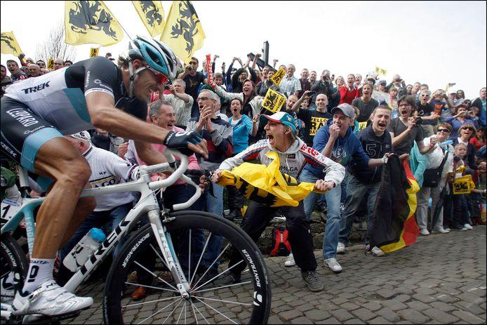 Fabian Cancellara kende een stevige inzinking op de Muur in de Ronde van 2011.