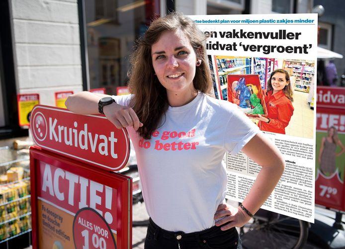 Katja Diepstraten bij de Kruidvat