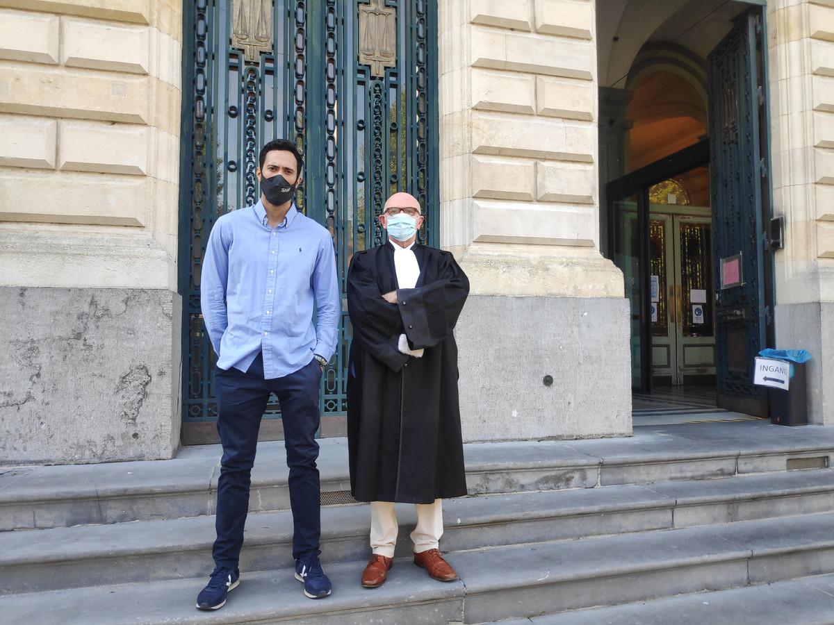 Valtònyc samen met zijn advocaat Paul Bekaert voor het Gentse hof van beroep.