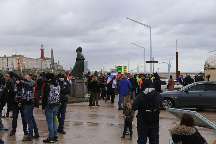 Demonstratie tegen PNVD Scheveningen.