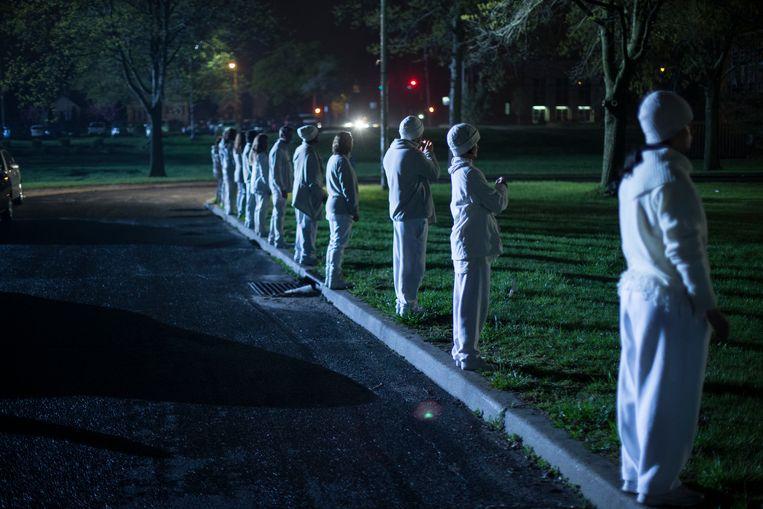 Een scène uit 'The Leftovers'. Vanavond start het tweede seizoen op Canvas. Beeld Paul Schiraldi Photography