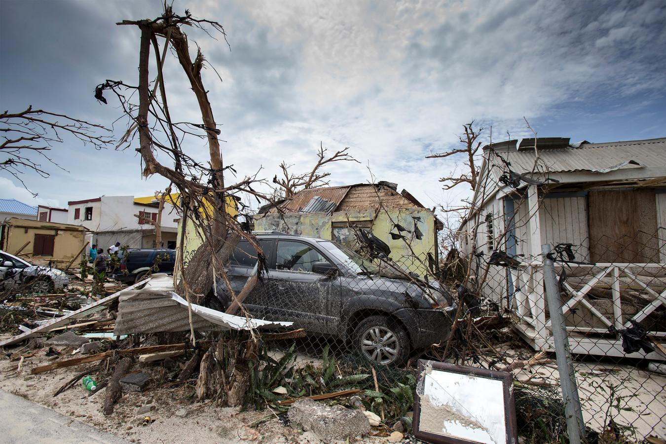 Ravage na orkaan Irma op Sint-Maarten. Beeld uit 2017.
