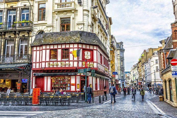 Een typisch beeld van de Brusselse binnenstad.
