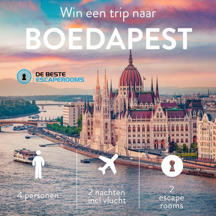 De hoofdprijs: een reis naar Boedapest.