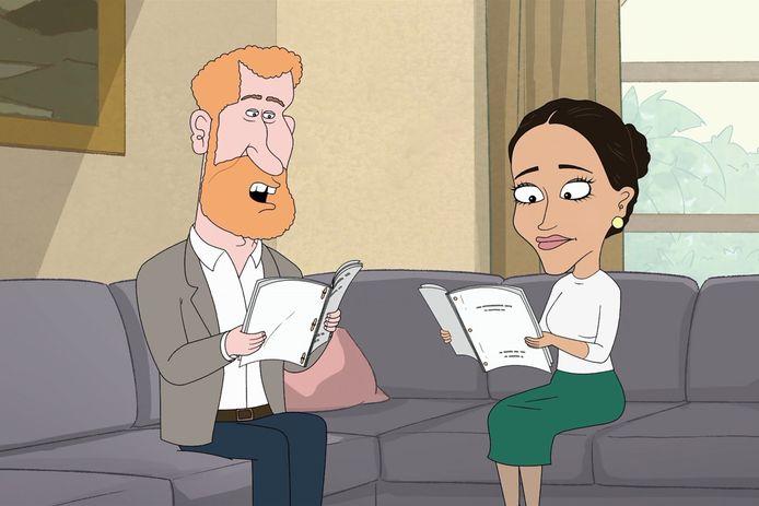 Prins Harry en Meghan Markle worden op de korrel genomen in 'The Prince' op HBO.