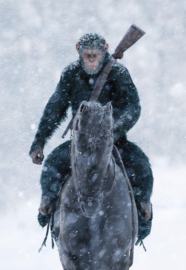 Scène uit 'War of the Planet of the Apes'. Beeld Photo News