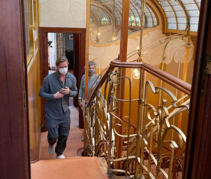 Brad Pitt a visité le musée Horta à Saint-Gilles ce mercredi.