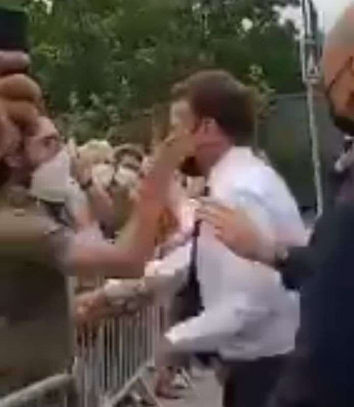 Le président Macron giflé, ce mardi, à Tain-l'Hermitage