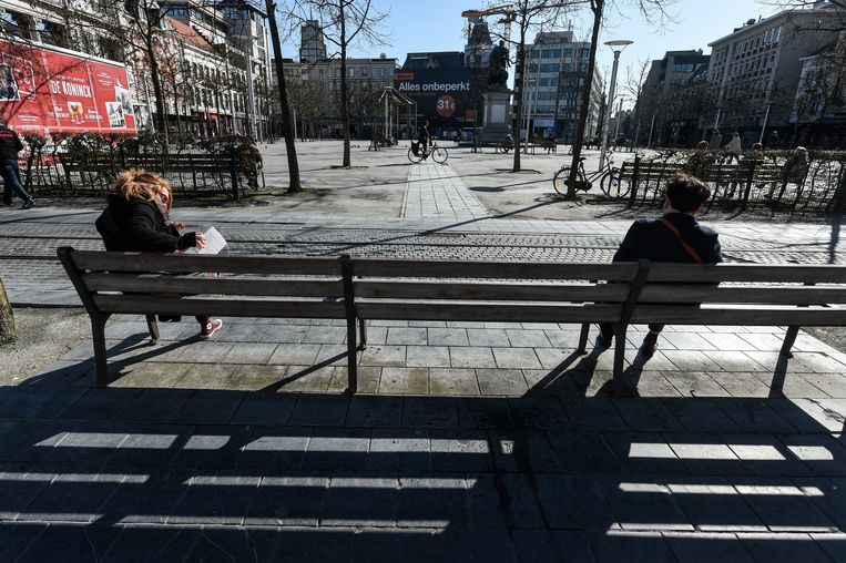 Antwerpen is een dode stad tijdens de lockdown - Anvers est une ville morte pendant le verrouillage  Antwerpen 24/03/2020 pict. by Bert Van den Broucke © Photo News Beeld Photo News