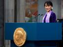 Haar speech bij de verlate ontvangst van de Nobelprijs voor de Vrede.