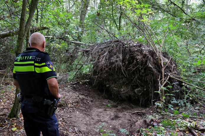 Het stoffelijk overschot van Mona Baartmans werd gevonden in het bos aan het Jack Dawson Green Pad in Heinenoord.