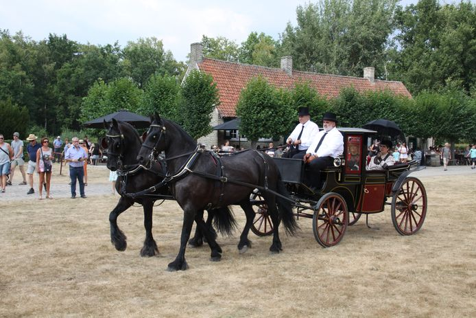 De koetsenparade in Bokrijk.
