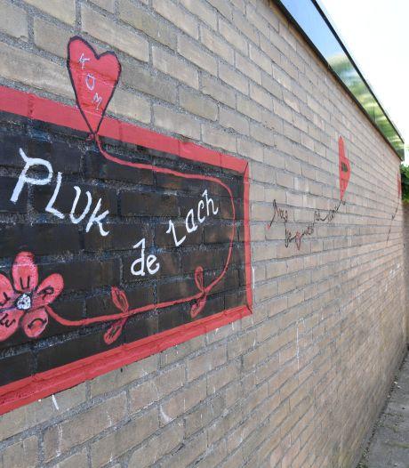Hartjesballonnen vervangen graffiti in opgefleurde brandgang: 'Kijk, daar is er nog één'