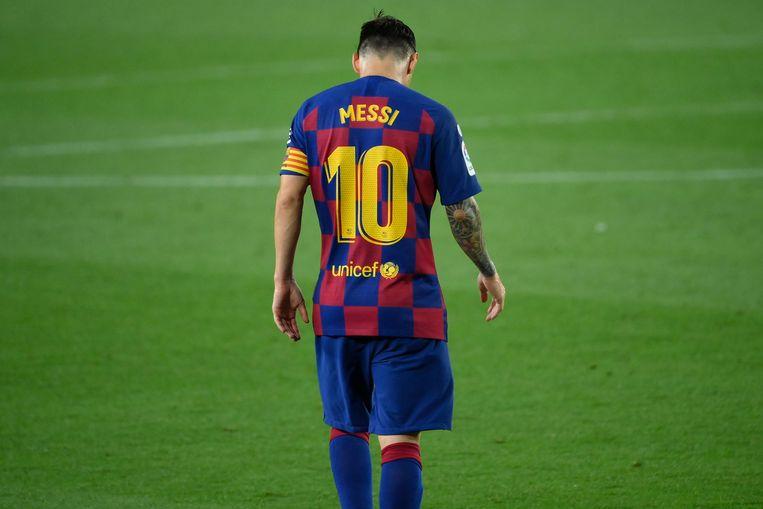 Lionel Messi in Camp Nou. Beeld AFP