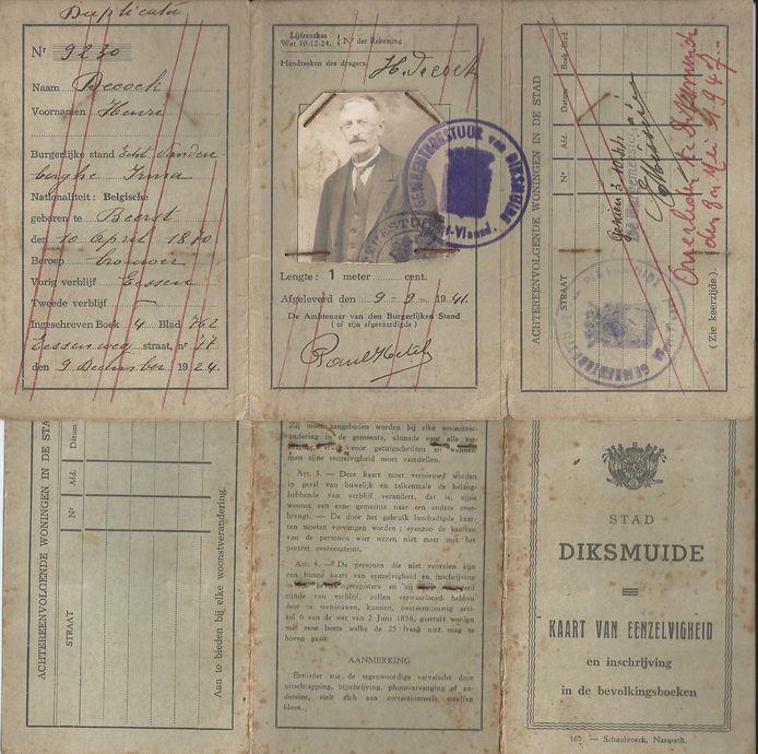 Het paspoort van Henri.