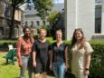 Van links naar rechts: Marie-Anne Yangassa, Nathalie De Wijngaert, Camille Linussio en Elke Artois.
