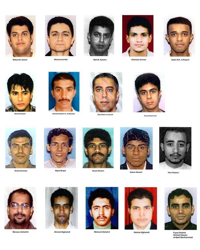 Vijftien van de negentien vliegtuigkapers hadden de Saoedische nationaliteit.