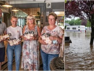 """Bissegemnaars helpen door zondvloed getroffen campinguitbaters: """"Het is een ramp, de caravans hangen er tot in de bomen"""""""