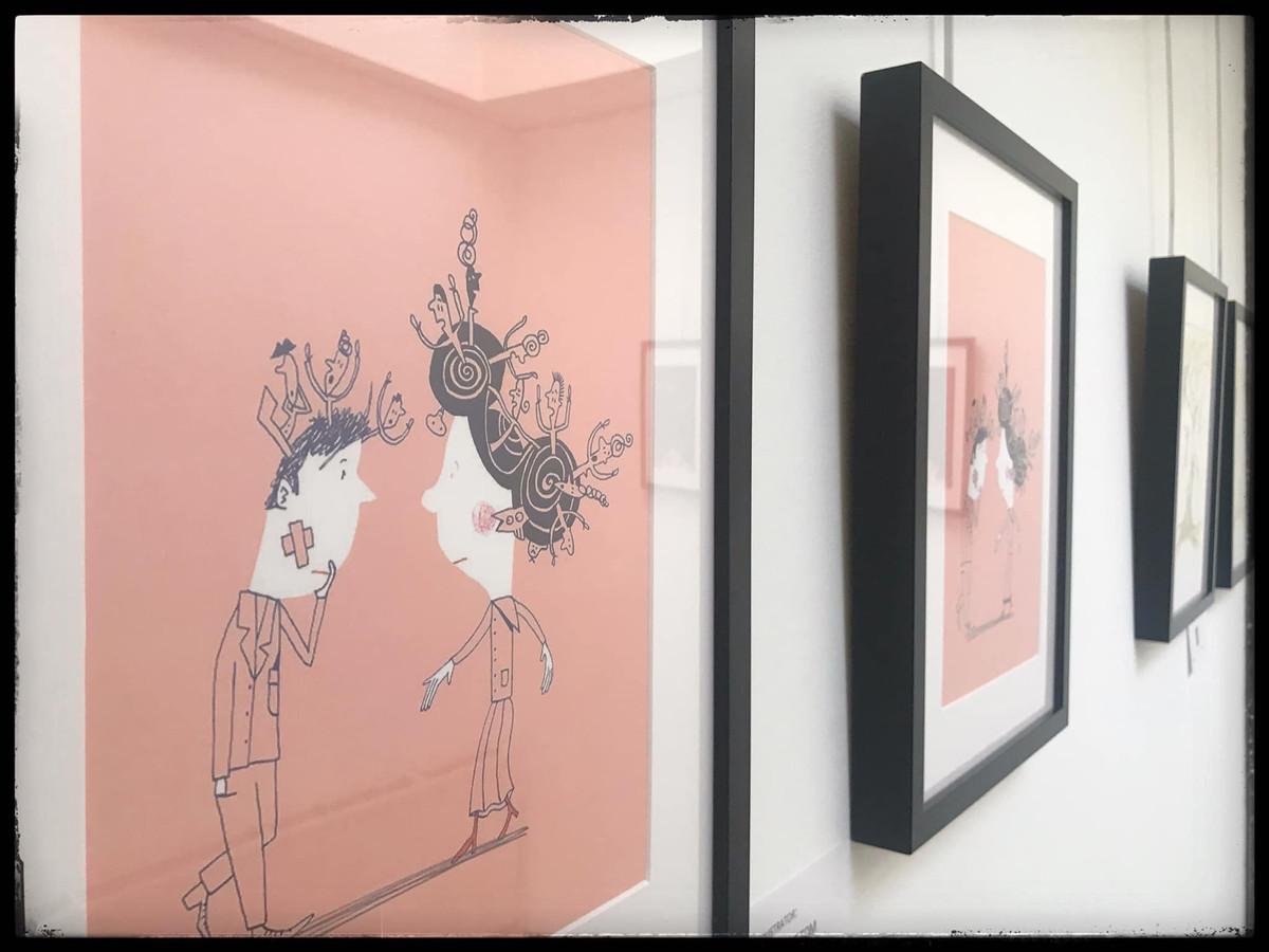 Enkele van de tentoongestelde werken van 'Memory for Life'.