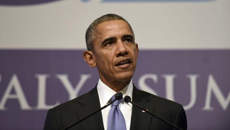 Obama op de G20-top in Turkije. Beeld ap