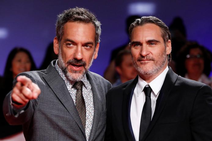 Le réalisateur Todd Phillips et Joaquin Phoenix.