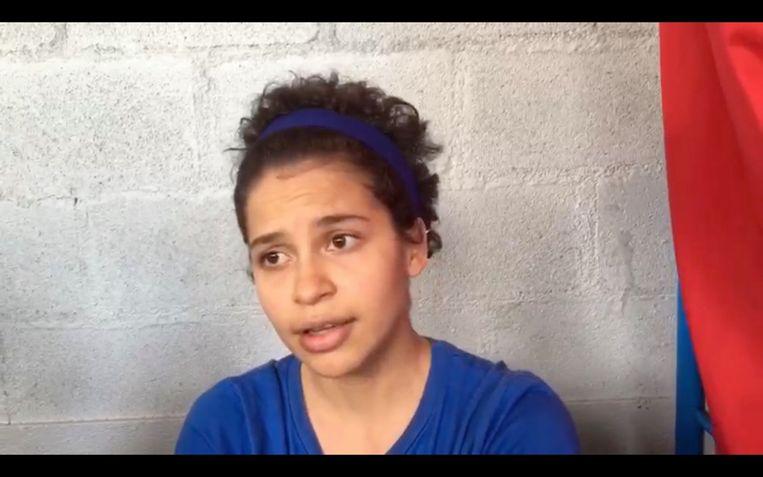 Studentenleidster Amaya Coppens zit nog altijd vast in Nicaragua. Beeld RV