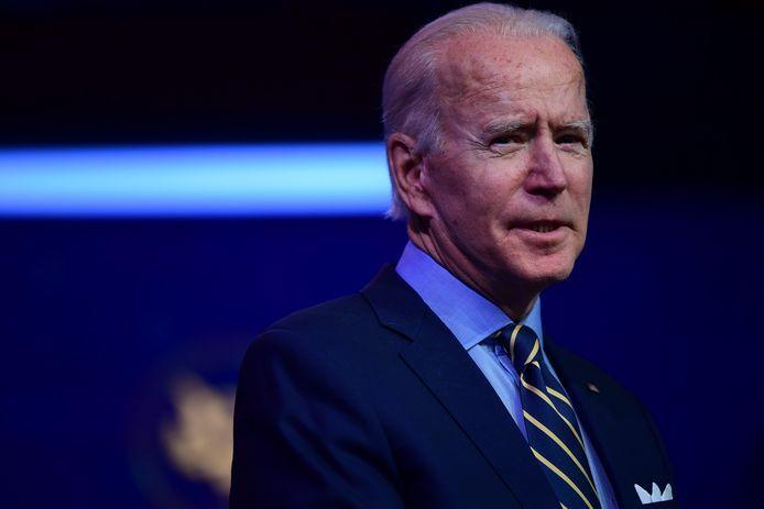 Aankomend Amerikaans president Joe Biden tijdens zijn toespraak in zijn woonplaats Wilmington, Delaware. (28/12/2020)