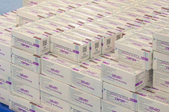 Boîtes de vaccins AstraZeneca (Mexico, 22 février)