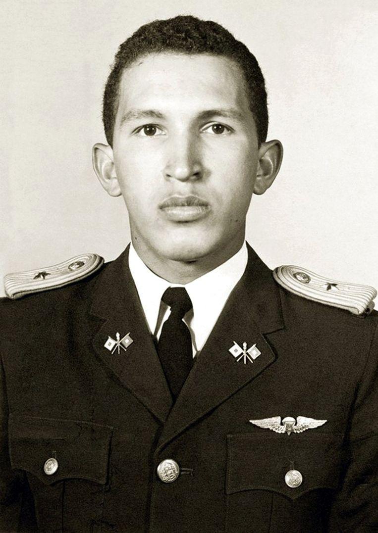 Chavez aan de militaire academie in 1975. Beeld AFP