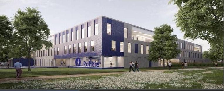 Een toekomstbeeld van het gebouw.