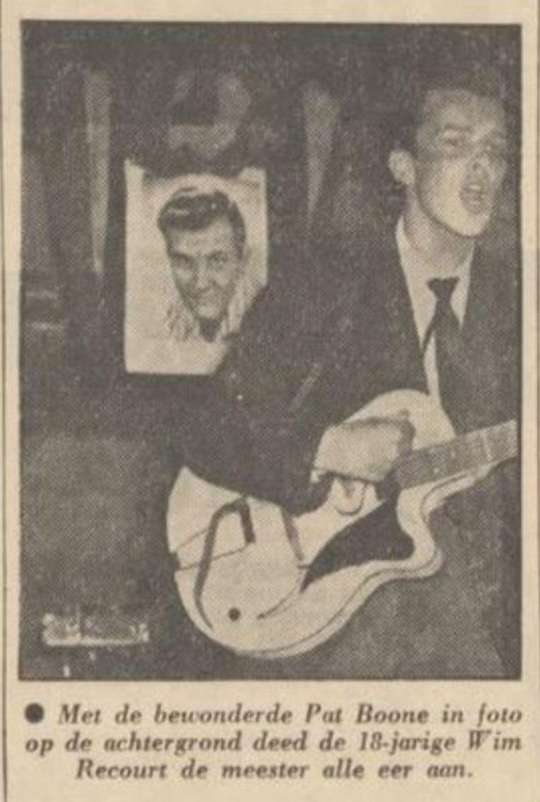 Wim Recourt, 'Johnny', in het Algemeen Dagblad, 8 januari 1958. Beeld AD