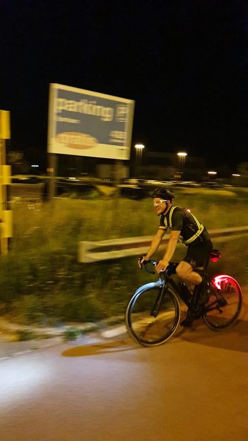 Elias Renard fietste een groot deel van de rit 's nachts, om de warmte te vermijden.