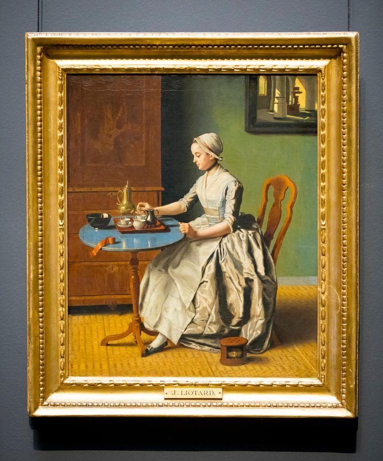 Het schilderij Hollands meisje aan het ontbijt van Jean-Etienne Liotard. Het is de eerste grote aankoop van Dibbits, sinds juli de nieuwe hoofddirecteur van het Rijksmuseum. Beeld anp