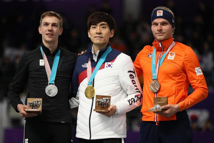 Seung-Hoon Lee won op de afgelopen Winterspelen goud op de massastart.
