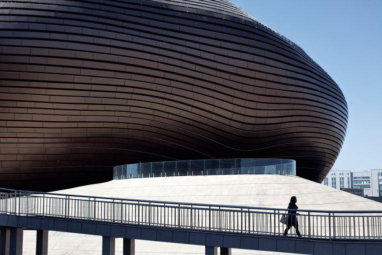 Het gesloten kunstmuseum van Ordos. Beeld Photo News