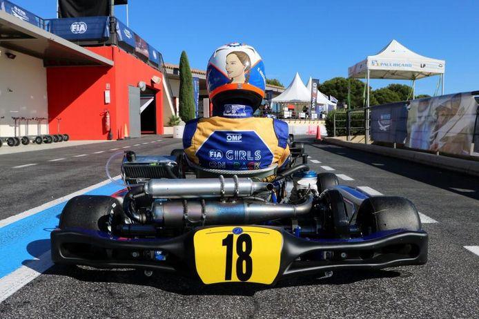 Esmee Kosterman (15) uit Cothen rijdt straks wellicht voor Ferrari.