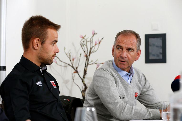 Victor Campenaerts en Marc Sergeant.