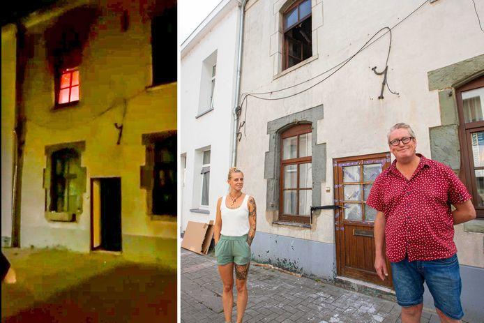 Dankzij het snelle ingrijpen door Joyce en haar stiefpapa Fabrice kon een overslag naar de aanpalende woningen worden vermeden.