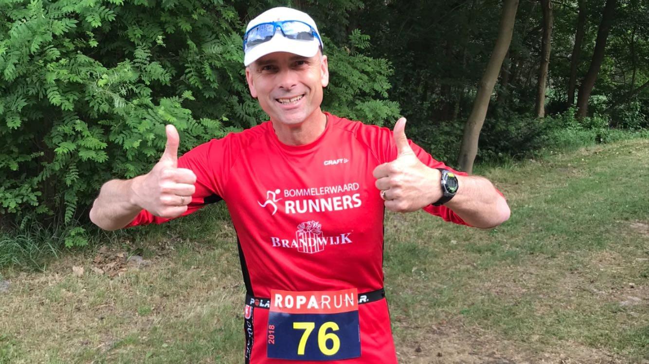 Gerard Bambacht is actief bij de Brandwijk Bommelerwaard Runners.