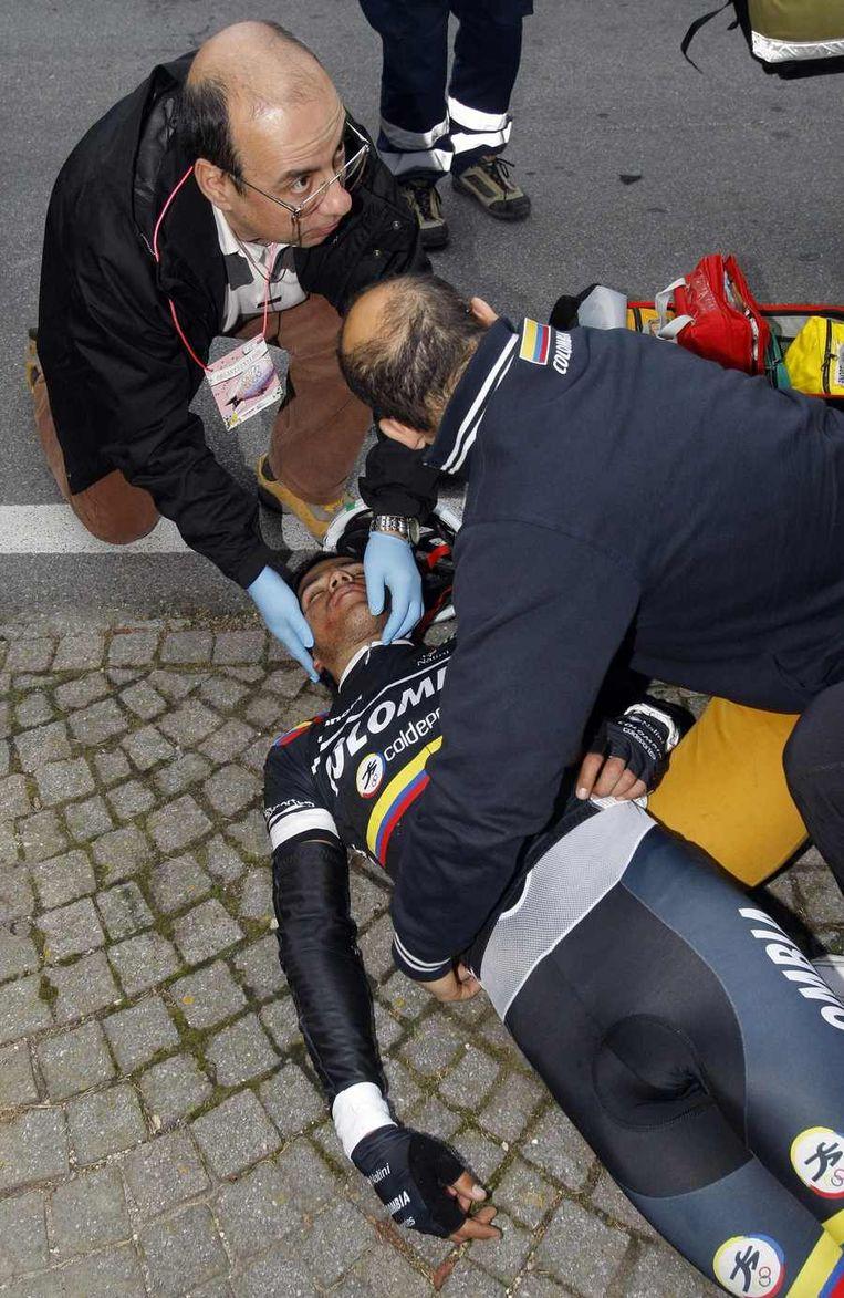 Quintero viel zwaar in de afzink van Le Manie. Beeld REUTERS