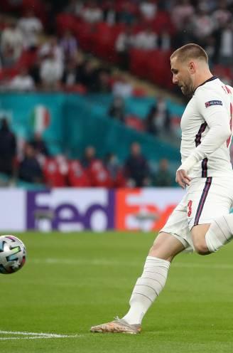 Onverzettelijk: Engels sterkhouder Luke Shaw speelde knock-outfase EK met gebroken ribben