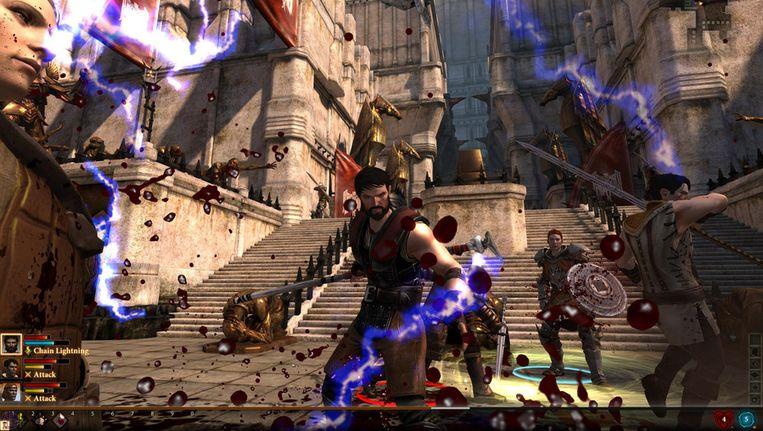 Een stadstaat op stelten in Dragon Age 2. (Beeld Bioware) Beeld