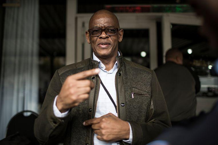 De secretaris-generaal van het ANC, Elias Ace Magashule.  Beeld Hollandse Hoogte / AFP