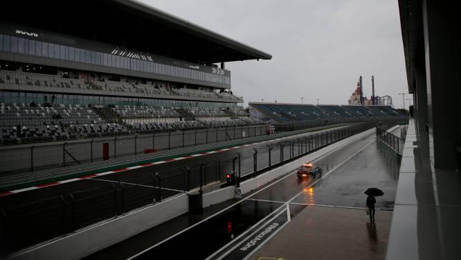 Regen teistert ook GP van Rusland: geen derde oefensessie in Sotsji
