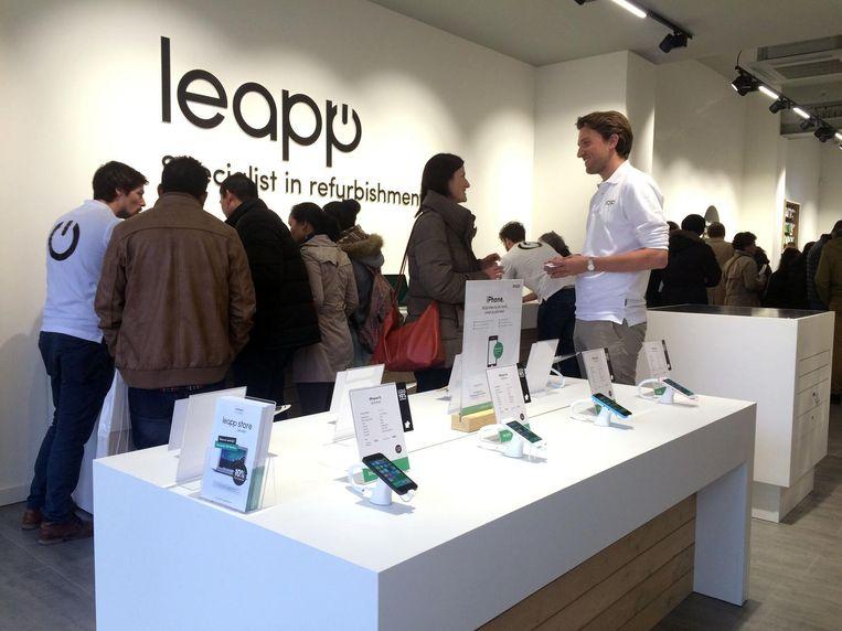 Het Leapp-filiaal in Leuven.  Beeld Vertommen