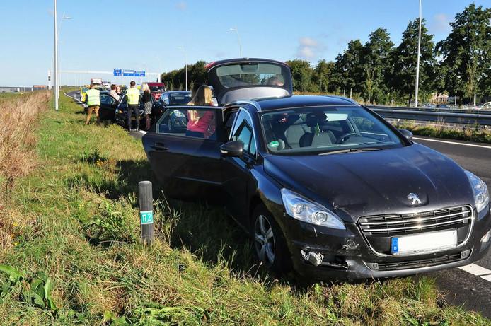 Bij het ongeluk waren drie auto's betrokken.