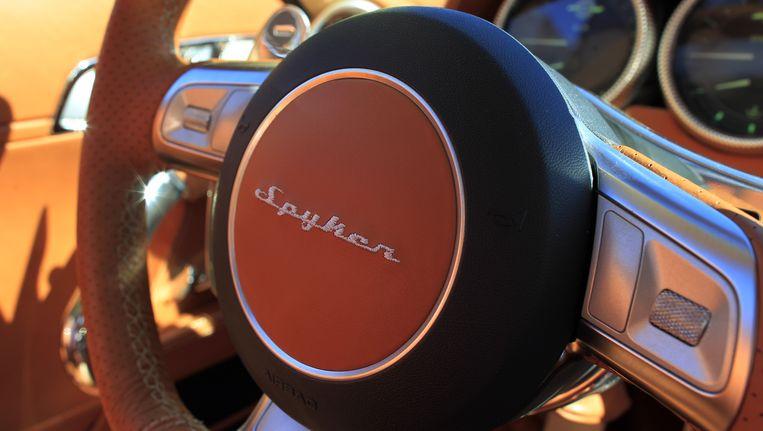 Een detail van de Spyker B6 Venator. Beeld anp