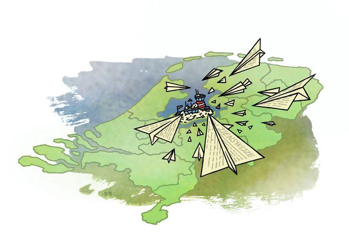 """Er zijn ruim 9400 zienswijzen ingediend op het Luchthavenbesluit voor Lelystad Airport. ,,Dat is heel veel"""", stelt bestuurskundige Marcel Boogers."""