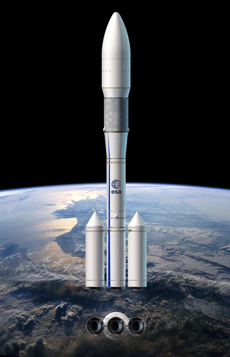Zo zal de Ariane-6 raket er uitzien. Beeld AFP